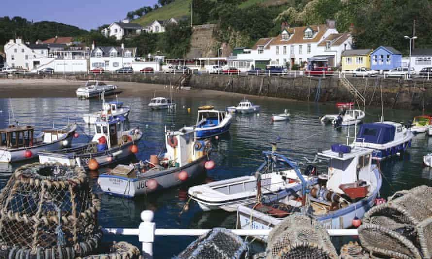 Rozel harbour, on Jersey's north coast.