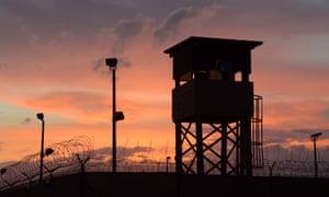 GTMO Guantanamo Bay camp and prison February 2016 Sunset over Camp Delta
