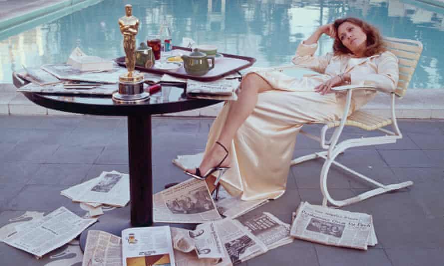 Faye Dunaway's post-Oscars breakfast, March 1977.