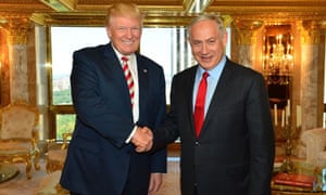 Donald Trump with Benjamin Netanyahu in September