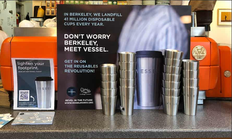 Caffe Strada in Berkeley offers the Vessel reusable cup program.