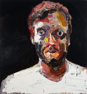 Ben Quilty, Australia, born 1973, Self-portrait after Afghanistan, 2012, Southern Highlands, New South Wales, oil on linen, 130.0 x 120.0 cm; Private collection, Sydney, Courtesy the artist, photo: Mim Stirling.L/BQ/9-1