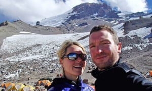 Maria Strydom and Robert Gropel. Strydom died on Mount Everest after falling ill with altitude sickness near the summit.