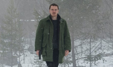 Gym-built and a drinker … Michael Fassbender as Harry Hole in The Snowman.