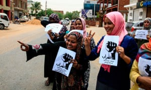 Workers take part in a two-day national strike in Khartoum, Sudan