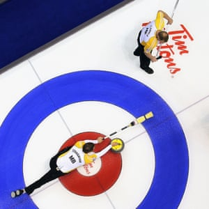 2011 Tim Hortons Brier - Draw Nine - Day FourLONDON, CANADA - MARCH 8: Team Manitoba skip Jeff Stoughton throws a rock in a game against Team Northwest Territories/Yukon in the 2011 Tim Hortons Brier Canadian Men's Curling Championship on March 8, 2011 at the John Labatt Centre in London, Canada. (Photo by Claus Andersen/Getty Images)