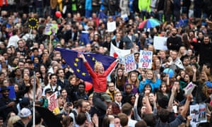 An anti-Brexit rally in London.