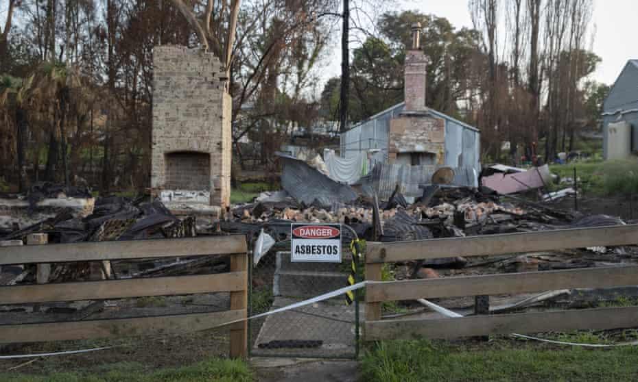 A bushfire-damaged property in Cobargo, Australia