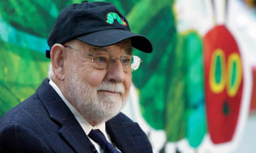 Eric Carle, author of the children's classic The Very Hungry Caterpillar, who has died in Massachusetts aged 91.