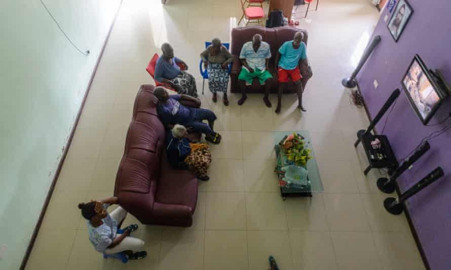 TV and conversation time at Comfort For The Aged.