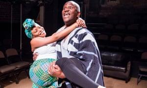 Marcy Dolapo Oni and Patrice Naiambana in The Secret Lives of Baba Segi's Wives