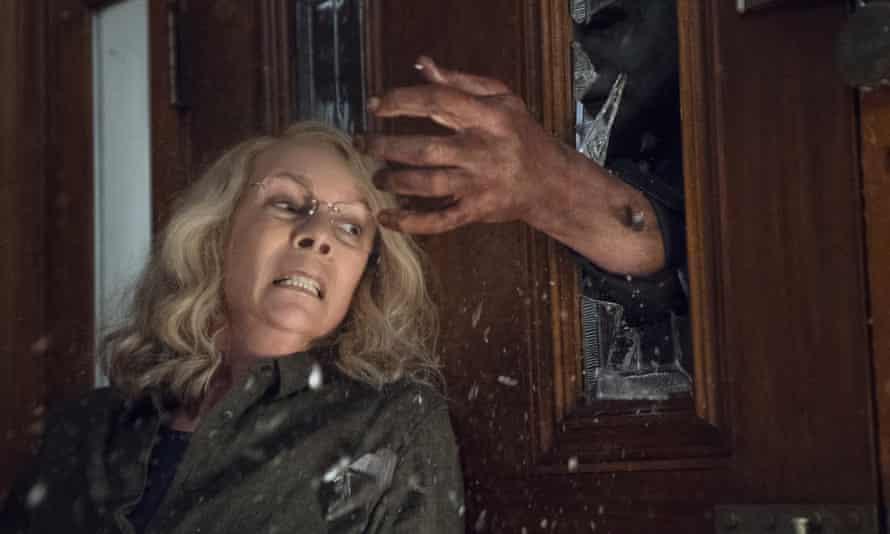 … Jamie Lee Curtis resumes hostilities with Michael Myers.