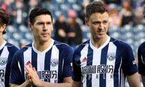 Gareth Barry (left) and Jonny Evans