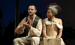 Tom Dawze and Sapphire Joy in Our Country's Good at Nottingham Playhouse.