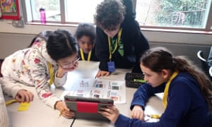 Pupils at Eleanor Palmer Primary School take part in a NewsWise workshop
