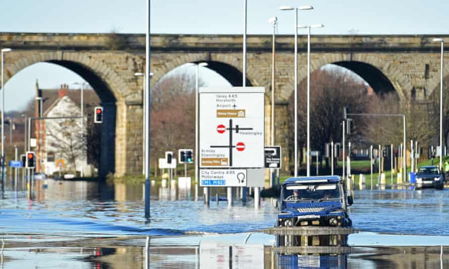 'I kept getting knocked over' … the floodwaters Johnson had to negotiate.