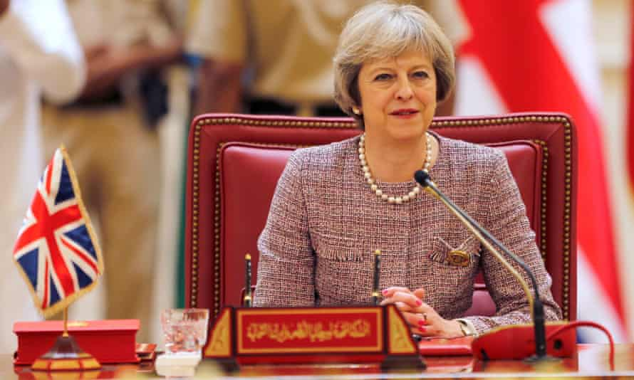 Theresa May attends the first Gulf Cooporative Council in Bahrain