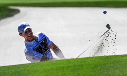 Rory McIlroy in action at TPC Sawgrass, where play was abandoned as the coronavirus crisis escalated.