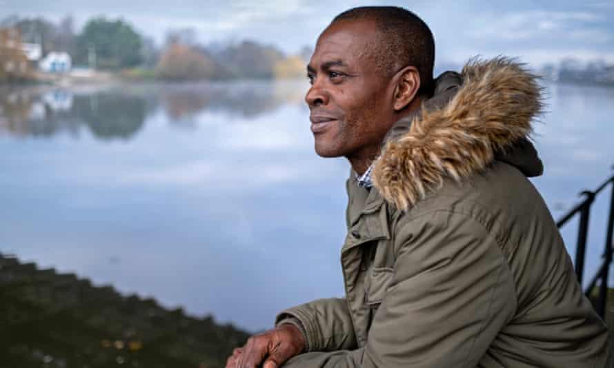Stephen Akpabio-Klementowski looks out at a lake