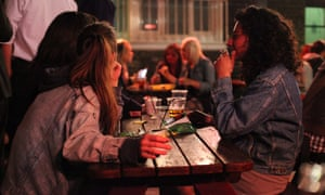 Smokers at a bar in London – Europeans are the 'world champions' of smoking and drinking, according to the WHO.