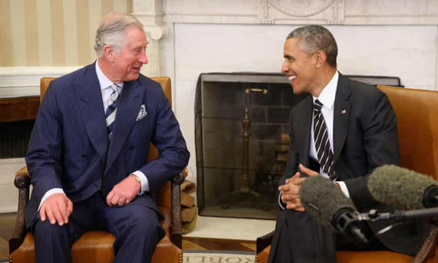 The Prince of Wales and Obama chat in the White House last year.