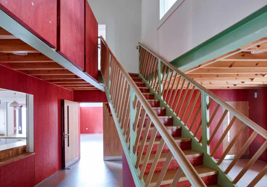 The red-and-green colour scheme continues inside.