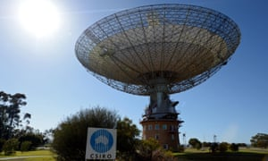 The Parkes Observatory radio telescope, operated by the Commonwealth Scientific and Industrial Research Organisation (CSIRO), in Parkes, NSW.
