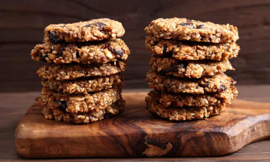 Oatmeal and banana cookies