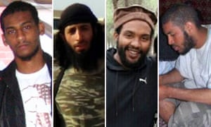 El Shafee Elsheikh, Jihadi John aka Mohammed Emwazi, Aine Davis, Alexanda Kotey - who it is claimed made up the group of British Isis militants known as 'the Beatles'.
