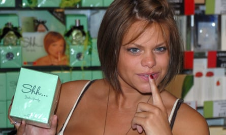 Jade Goody launching a perfume in 2006.