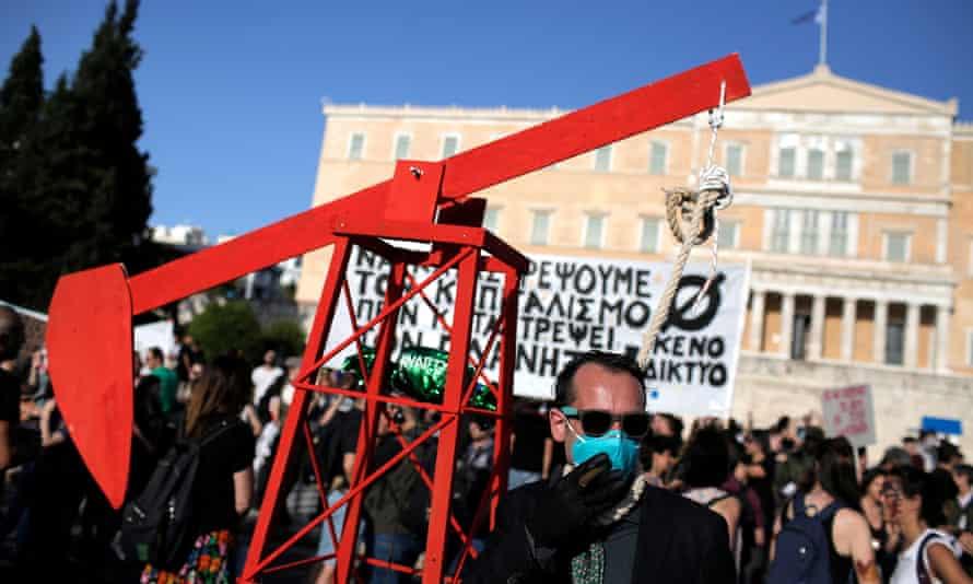 anti-oil protesters