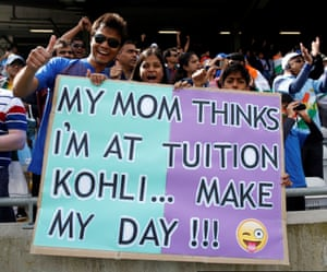 India's fans during the Champions Trophy match against Pakistan at Edgbaston in 2017.