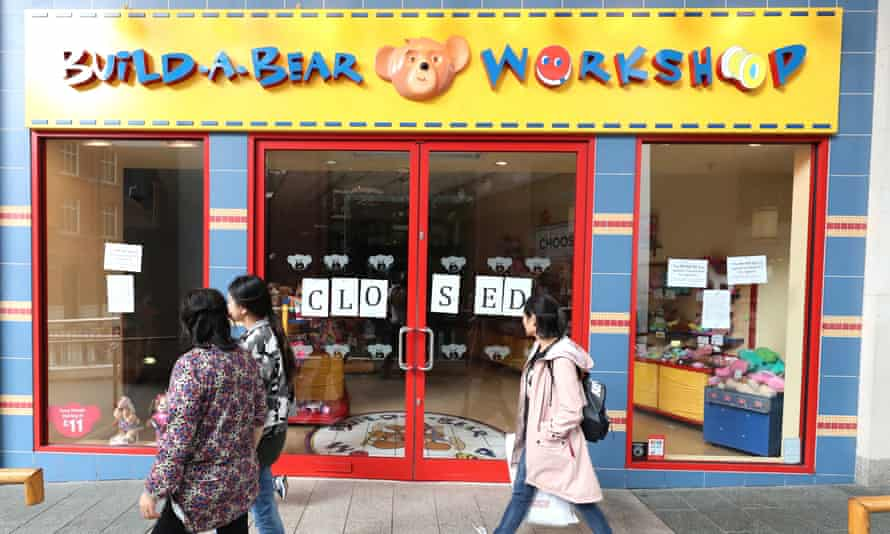 The Build-A-Bear store in Belfast where police were called to deal with crowds Thursday.