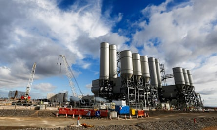 The concrete batching plant at the Hinkley Point C
