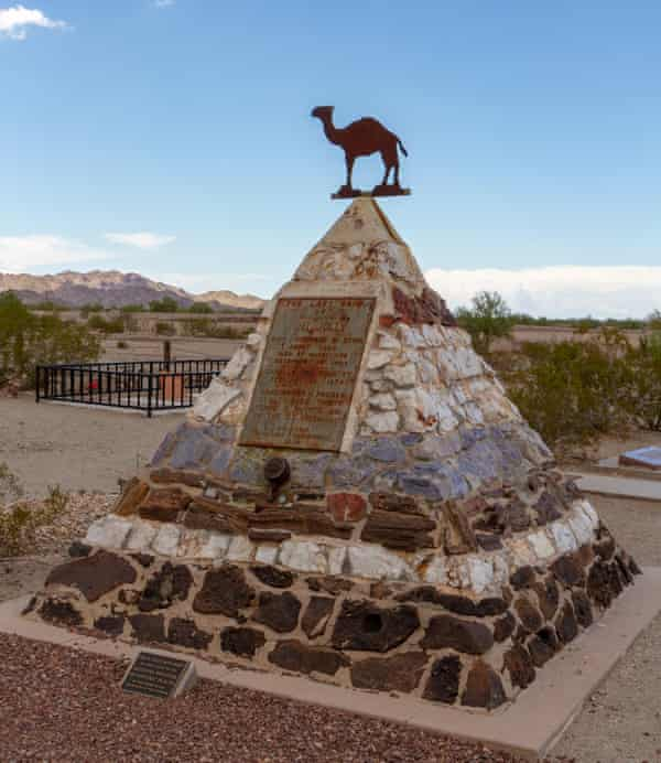 Hi Jolly's tomb in Quartzsite cemetery, Arizona.