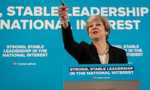 Theresa May speaking at her press conference this morning.