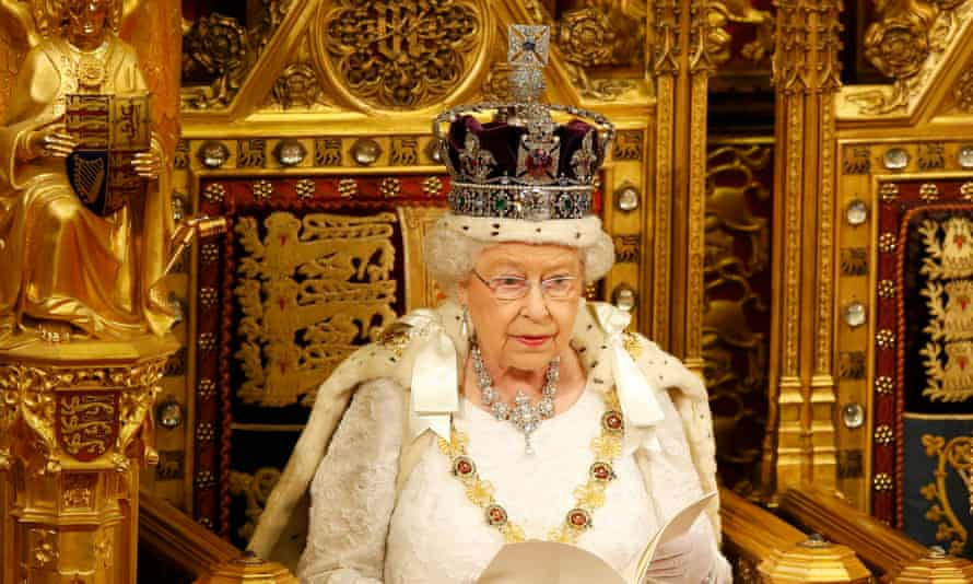 Queen Elizabeth reads the Queen's Speech, setting out the government's legislative agenda.