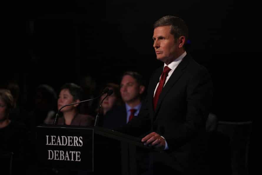 Chris Uhlmann at the leaders' debate in May.