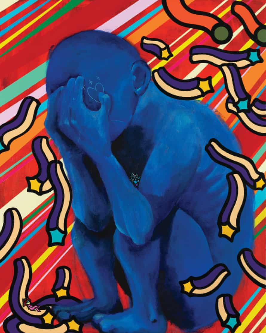 'People are depressed, that's what the blue figure represents' … No Way Out But by Ohnim (Mino) and Choi Nari.