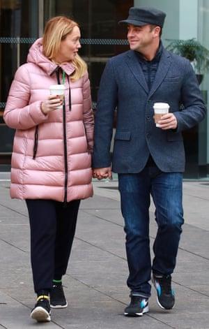 Anthony McPartlin with new partner Anne-Marie Corbett.