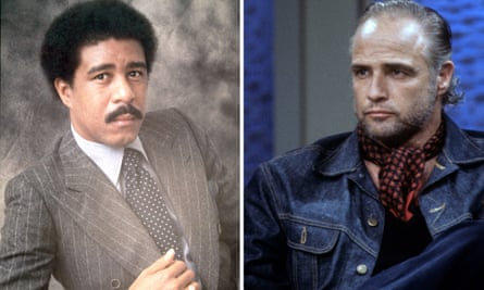 Richard Pryor and Marlon Brando in the 1970s