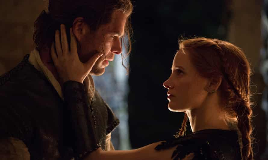 'It really is a nuclear war of dullness' … Chris Hemsworth and Jessica Chastain do their best.