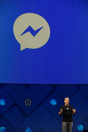 David Marcus, vice president of Messaging Products at Facebook, speaks on stage.