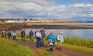 The Fife Coastal Path near Anstruther.