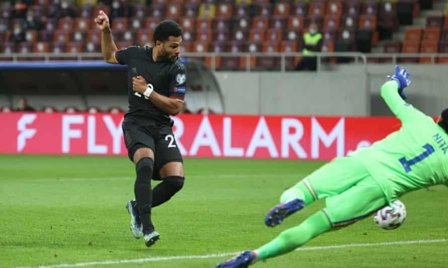 Serge Gnabry scored Germany's goal in Bucharest.