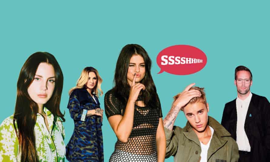Lana Del Rey, Julia Michaels, Selena Gomez and Justins Bieber and Tranter