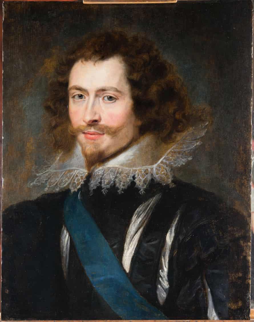 The portrait of Villiers after treatment.