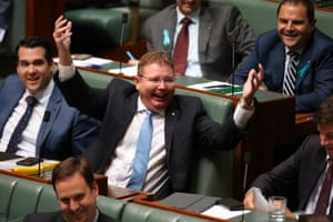 Reid MP Craig Laundy whooping it up.