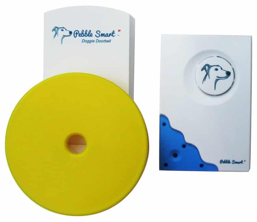 Pebble doggie doorbell.
