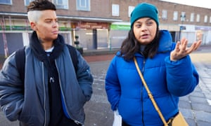 Shermin Hassan (right) and Kyan Adams in Crewe